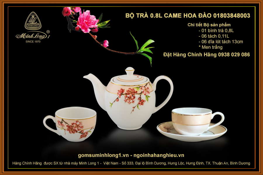 Bộ trà 0.8L Came Hoa Đào 01803848003