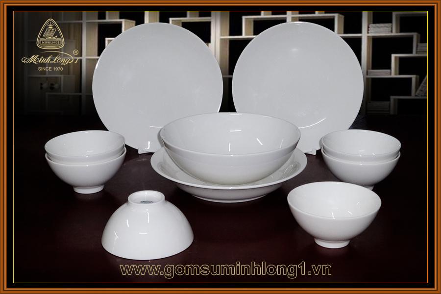 Bộ bàn ăn 10SP Daisy IFP trắng ngà 461028000