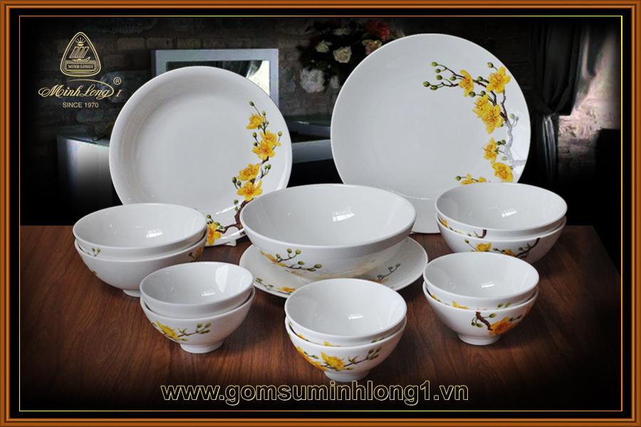 Bộ bàn ăn 14sp Daisy IFP Hoàng mai - 461428409 (QA)