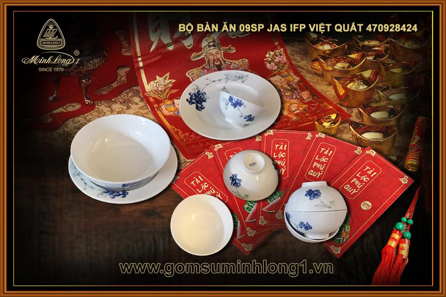 Bộ bàn ăn 09sp Jas IFP Việt Quất 470928424