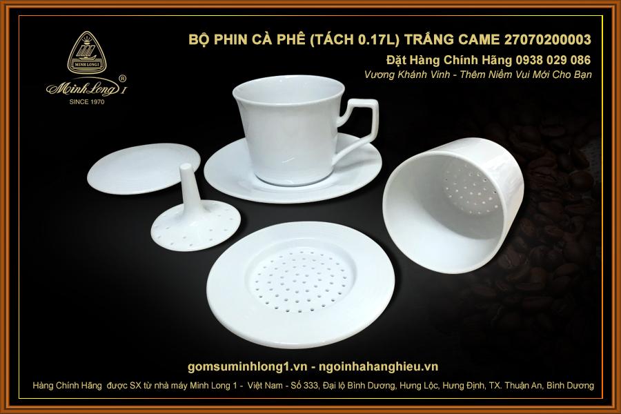 Bộ phin cà phê (Tách 0.17L) Trắng Came 27070200003
