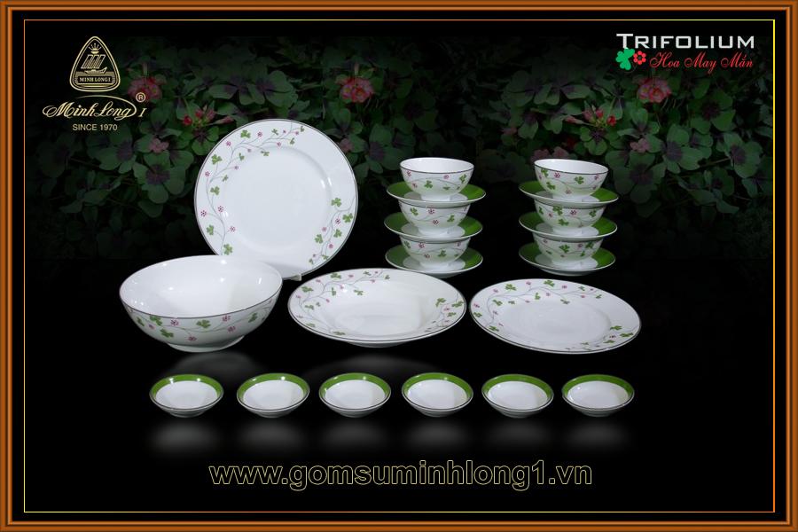 Bộ bàn ăn 22sp Hoa May Mắn 22216