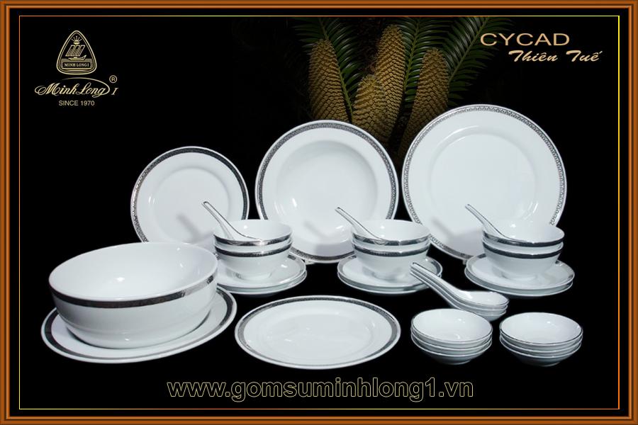 Bộ bàn ăn 30sp Thiên Tuế 30018