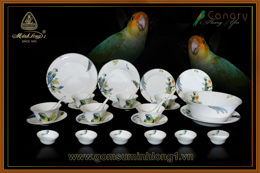 Bộ bàn ăn 30sp Hoàng Yến 30303