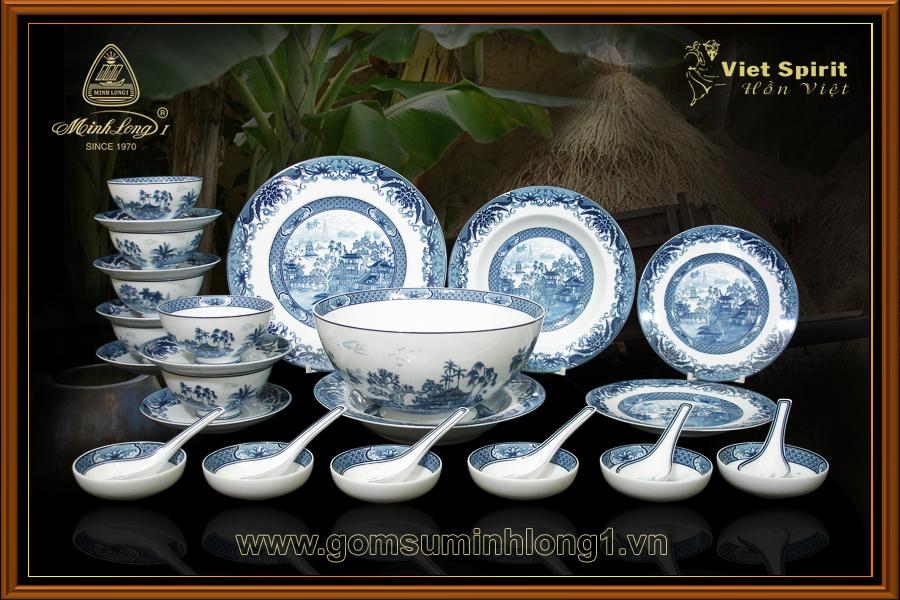 Bộ bàn ăn 30sp Hồn Việt 30038