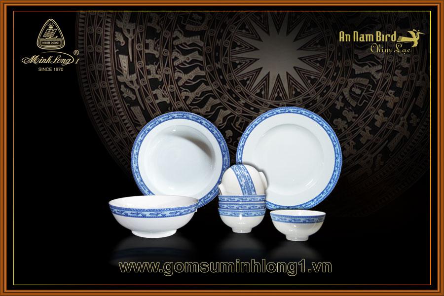 Bộ bàn ăn 09sp Chim Lạc 09001