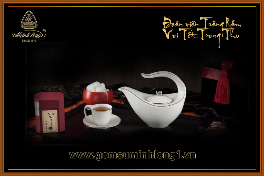 Bộ trà 0, 45L Anh Vũ chỉ bạch kim 01458004303