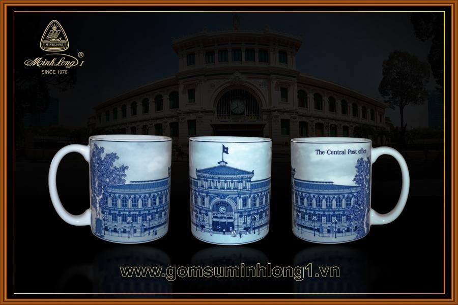 Ca 0.36L Bưu Điện Thành Phố 153613064 gốm sứ Minh Long