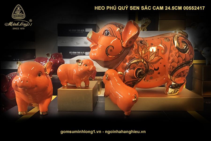 Heo Phú Quý Sen sắc cam 24.5cm 00552417